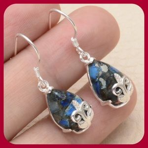 Jewelry - JUST IN Blue Copper Turquoise Earrings